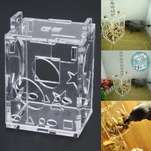 caixa de forrageio para aves acrilico brinquedo inteligente quebra cabeça puzzle interativo para aves calopsita periquito ringneck jandaia eclectus agapornis ethos animal