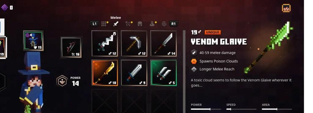 Minecraft Dungeons Weapon Guide - Venom Glaive