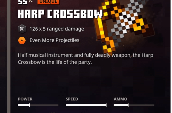 Minecraft Dungeons Scatter Crossbow