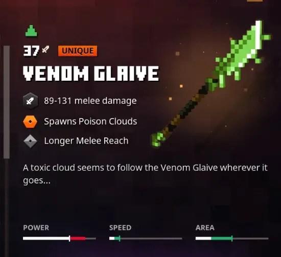 Minecraft Dungeons Venom Glaive