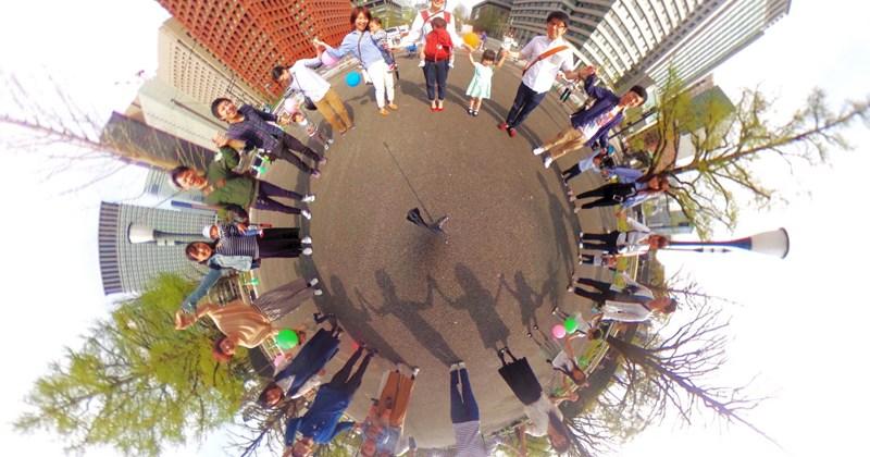 4/16(日)「360°撮影できるユニークカメラ『RICOH THETA SC』子どもとおさんぽ撮影会」を開催しました。