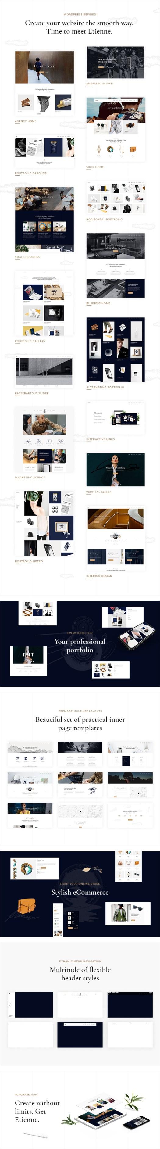 Etienne - Business WordPress Theme - 1
