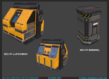 Scifi Lunchbox and Barrel