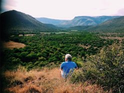 Visiting the Kamdebo, South Africa, for research.=