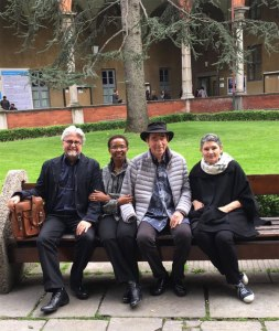 Conference 'Conflict, Reason and Reconciliation'. With Pumla Gobodo-Madikizela (author of A Human Being Died that Night), Albie Sachs, and Robi Damelin, International Relations Director, The Parents Circle (Bereaved Parents), Israel and Palestine, from Tel Aviv