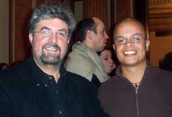 With Dutch poet Alfred Schaffer in Vienna during the Literature and Migration conference in December 2002, hosted by the University of Vienna. Alfred was a post-doctoral researcher in Van Heerden's Department at the university.