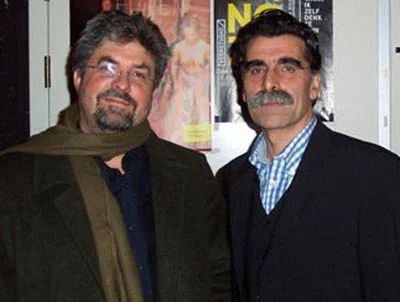 With Iranian writer Kader Abdolah during the Winternachten (Winter Nights) festival, The Hague, 2002.