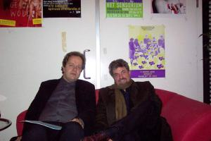 With Dutch journalist and philosopher Michael Zeeman, The Hague, Netherlands.