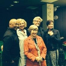 Before a presentation at Forum, Sittard, organized by Boekwinkel Krings with writers Kirby van der Merwe, Irma Joubert, Sonja Loots, Etienne van Heerden and Marita van der Vyver
