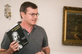 Cas Wepener (University of Pretoria) spoke about his book Die reis gaan inwaarts. (Photo: Amy Coetzer)