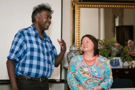 Festival organiser Darryl David and Lisa Ker-Antrobus (Victoria Manor and Die Tuishuise) (Photo: Amy Coetzer)