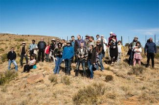 Visitors to the veld soirée (Photo: Amy Coetzer)