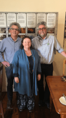 With former colleague Godfrey Meintjes and Lisa Ker-Antrobus (Victoria Manor and Die Tuishuise).