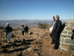 At novelist Olive Shreiner's grave, Buffelskop, Cradock