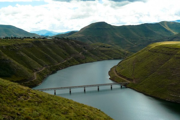 Lesotho First part of the Katse Dam