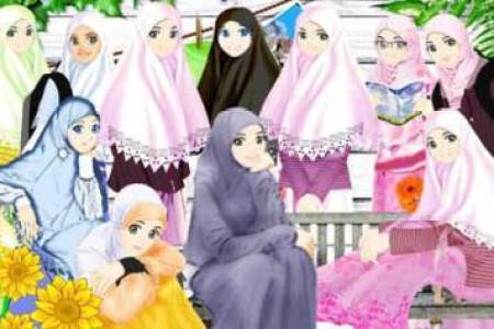 Images About Muslimah Anime On We Heart It See More Hijab And Cartoon Gambar