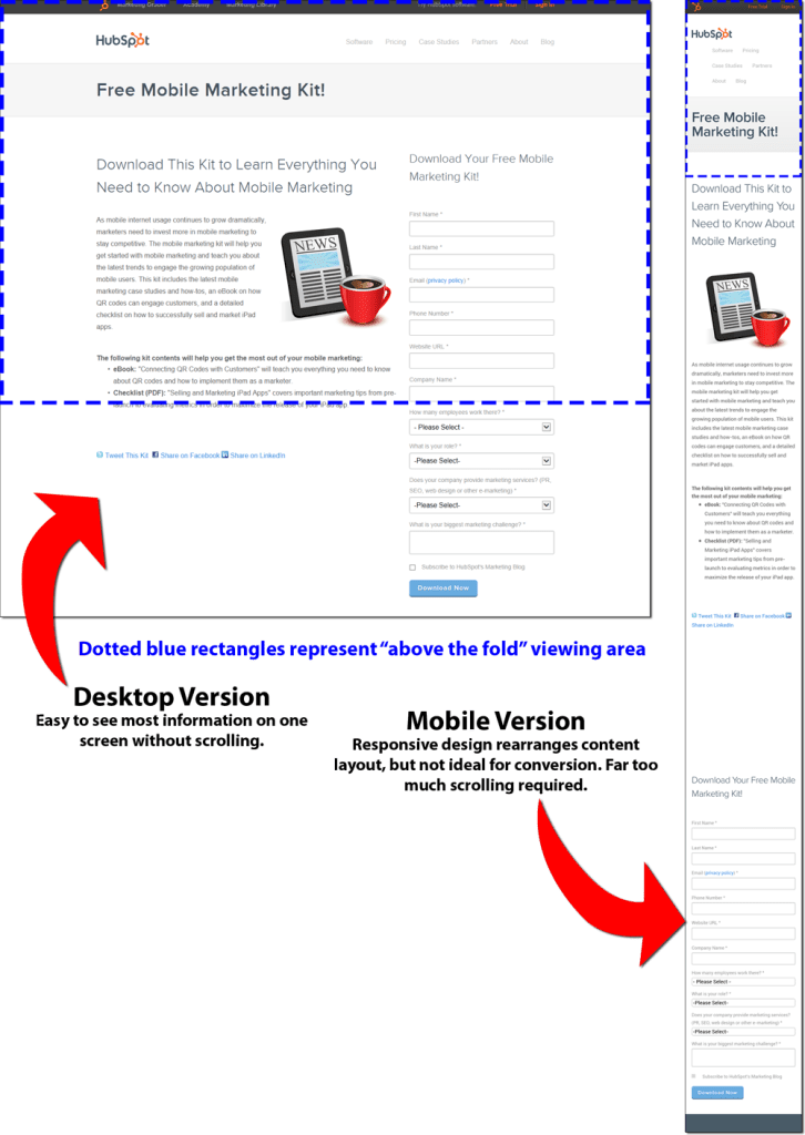 Landing/Offer Page on Desktop and Mobile