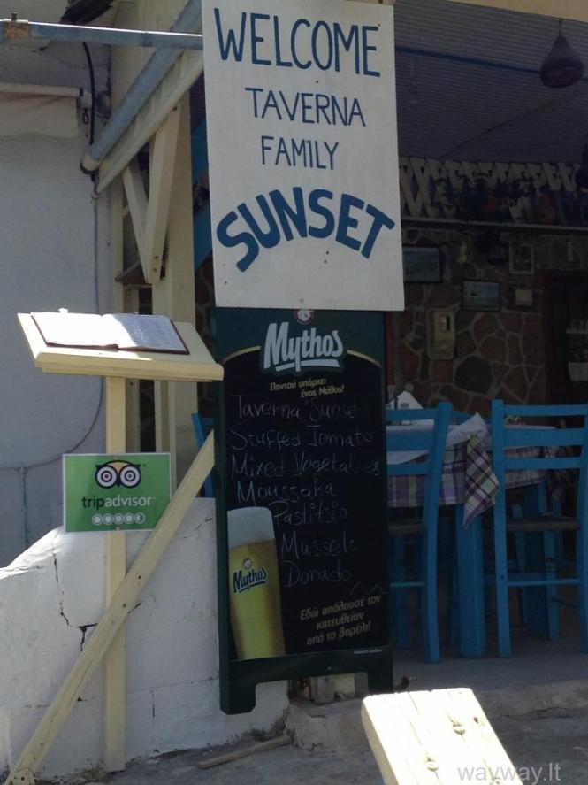Taverna Sunset. Kreta