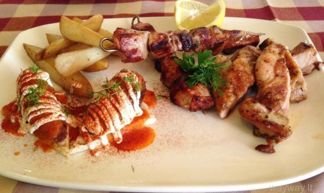 Meze. Katoi restaurant. Omodos. Cyprus