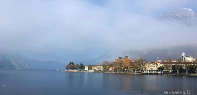 Italija. Pavasarinis Komo ežeras. Lecco