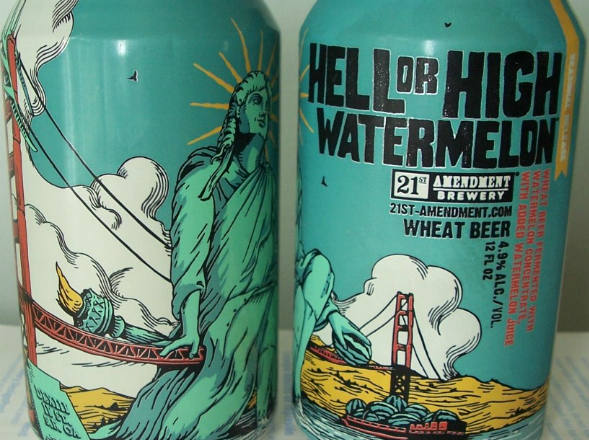 size 590 High Watermelon Wheat Beer As 9 cervejas mais estranhas do mundo