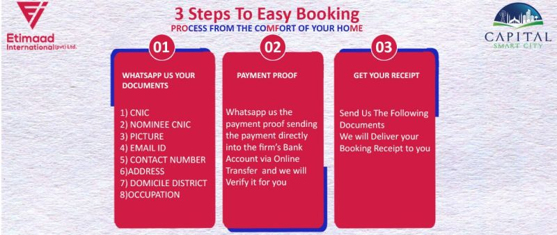 Booking a plot in Capital Smart City