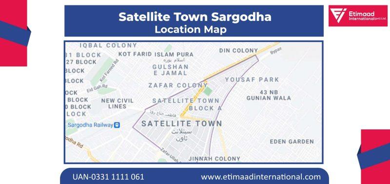 Satellite Town Sargodha location map