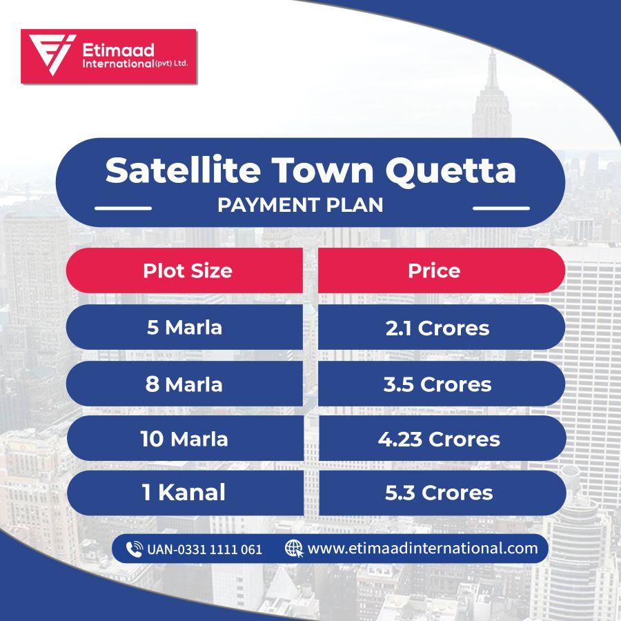 Satellite Town Quetta Payment Plan