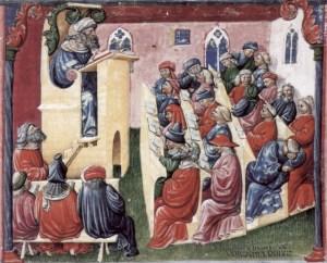 A university class, Bologna (1350s)