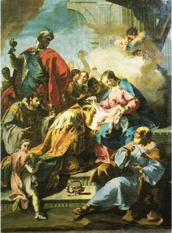 Giovanni Battista Pittoni, Adoration of the Magi (1740)