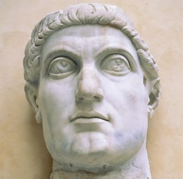 Sculpture of the Emperor Constantine. Source: Wikimedia Commons, https://commons.wikimedia.org/wiki/File:Sculpture_of_constantine.jpg