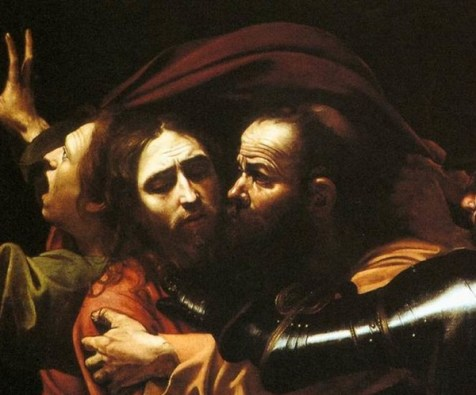 Detail from Caravaggio's 'Taking of Christ' (circa 1598)