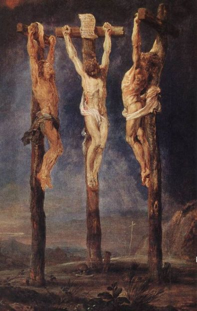 Peter Paul Rubens, 'The Three Crosses' (circa 1620). Courtesy of Wikimedia Commons