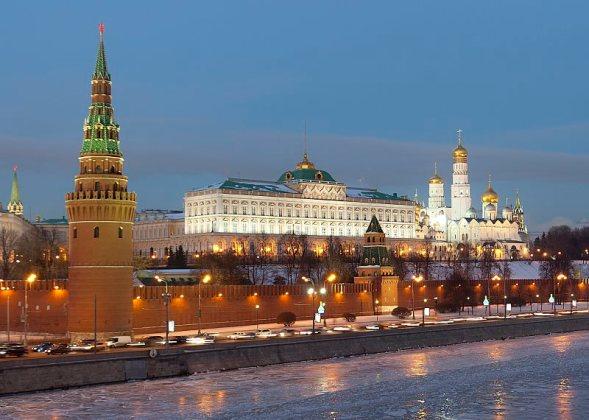 The Kremlin, Moscow. Courtesy of Wikimedia Commons