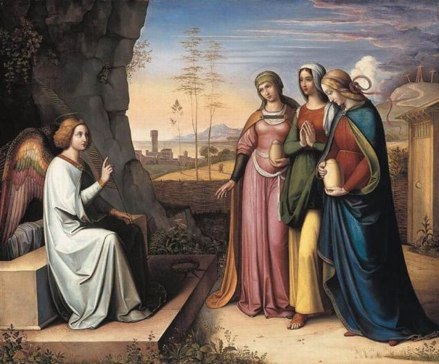 Peter von Cornelius, 'The Three Marys at the Tomb' (between 1815 and 1822). Courtesy of Wikimedia Commons