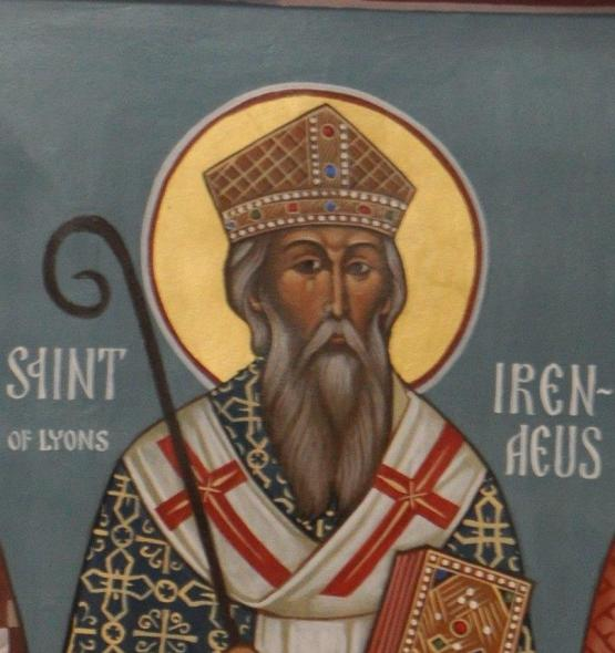 Detail from an icon of Irenaeus of Lyons. Courtesy of Flickr / bobosh_t (https://www.flickr.com/people/frted/)