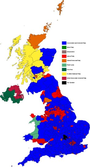 UK General Election results 2017. Courtesy of Wikimedia Commons
