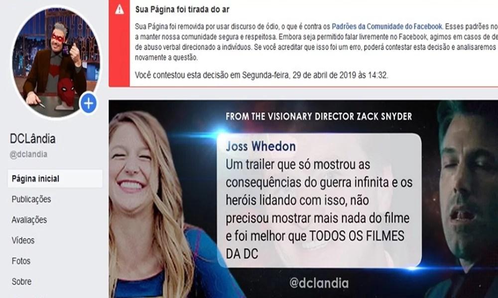 DCLÂNDIA FOI BANIDA PELO FACEBOOK