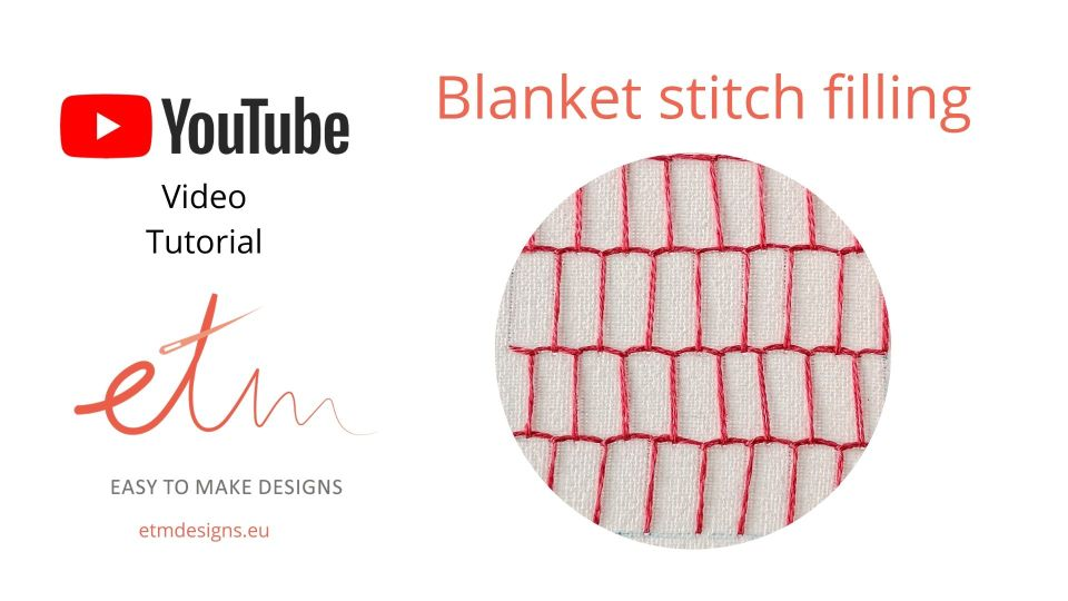 Blanket stitch filling video tutorial cover