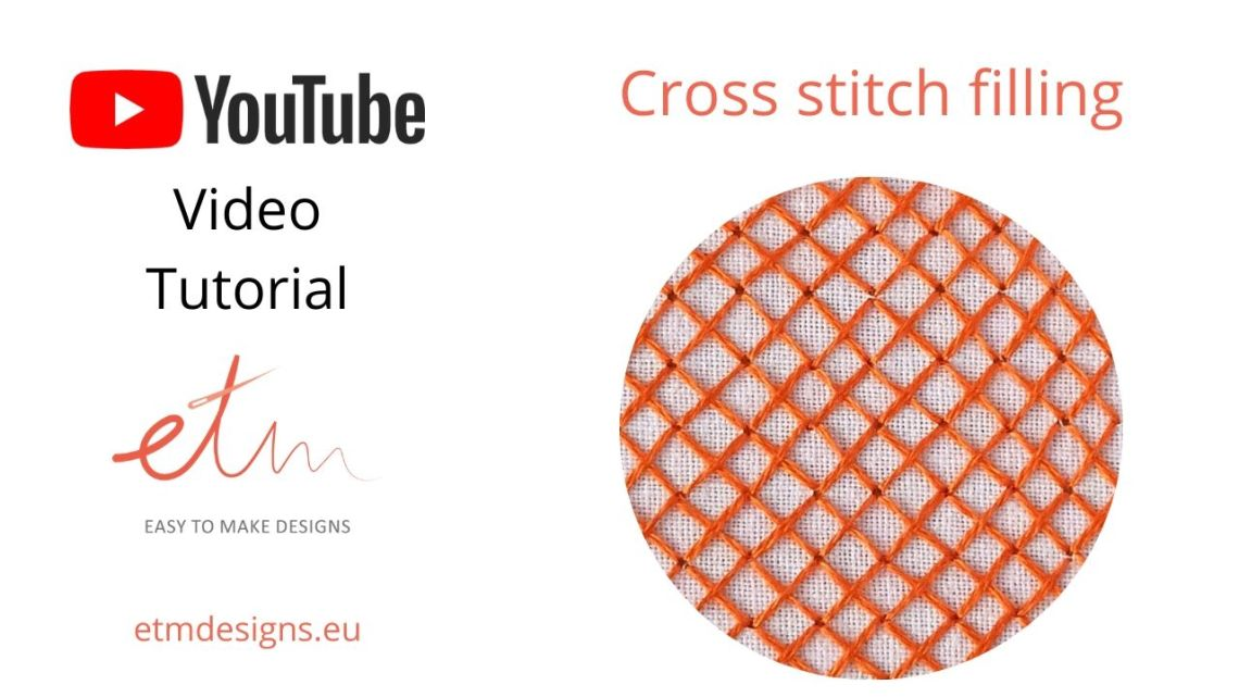 Cross stitch filling video tutorial cover photo
