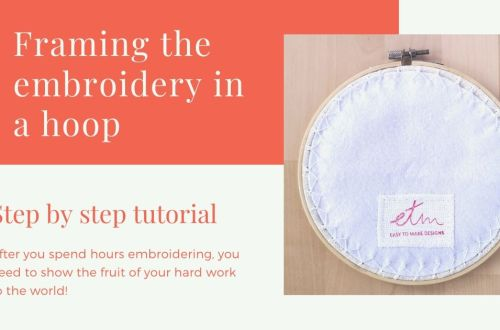 Framing the embroidery in a hoop cover photo