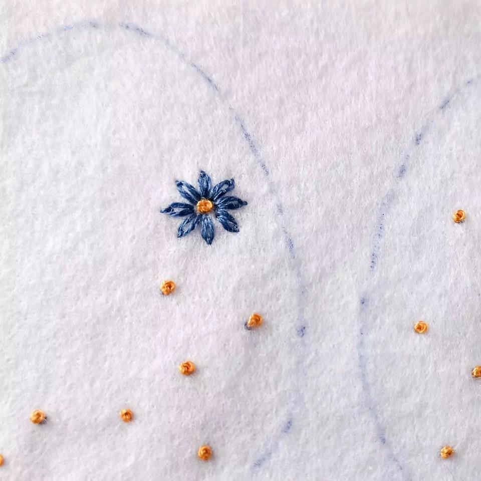 Blue small daisy flower