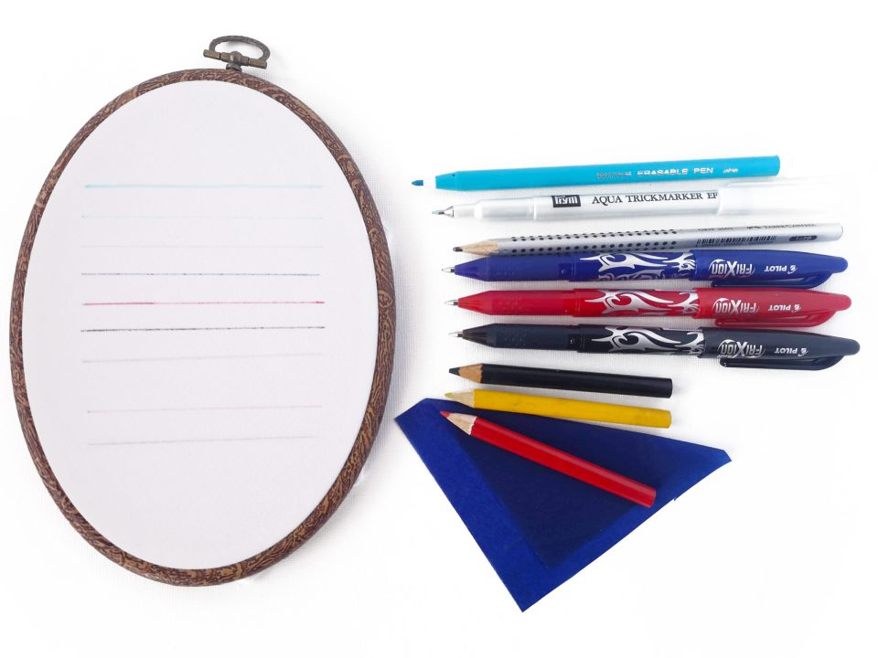 Pattern transferring tools for embroidery
