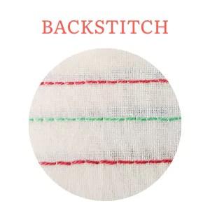 Backstitch hand embroidery