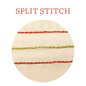 split stitch hand embroidery