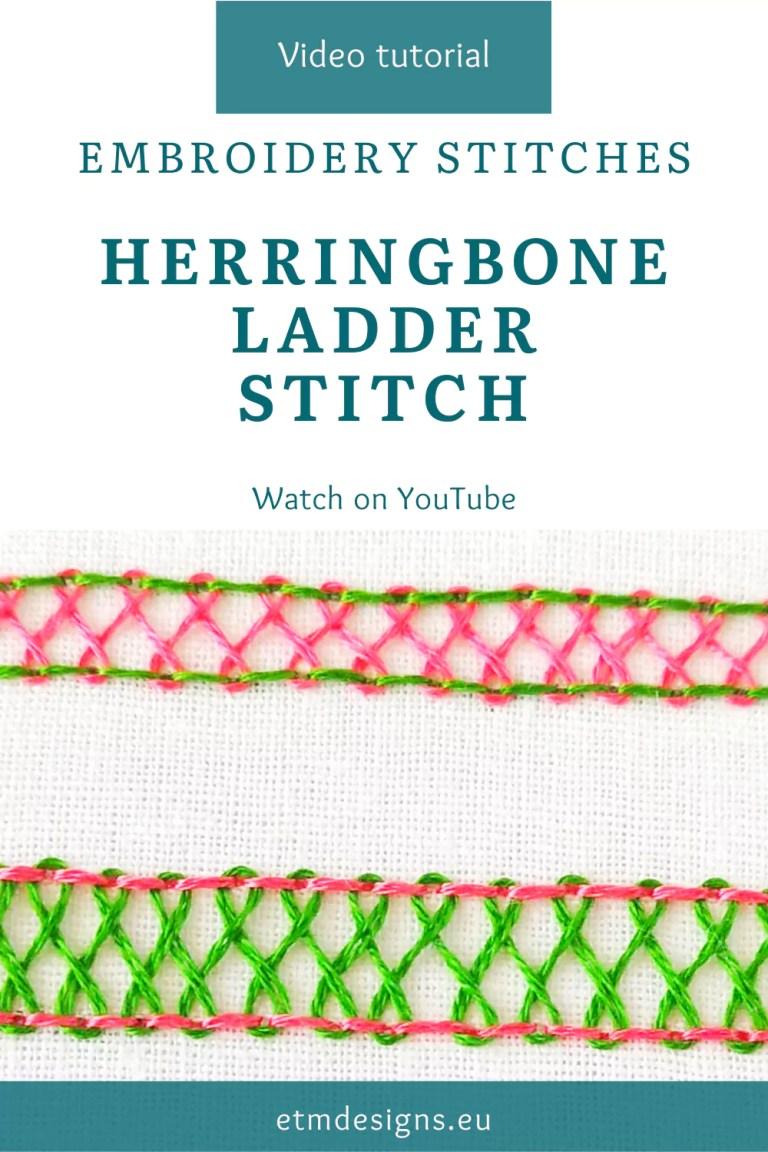 Herringbone ladder stitch video tutorial pin