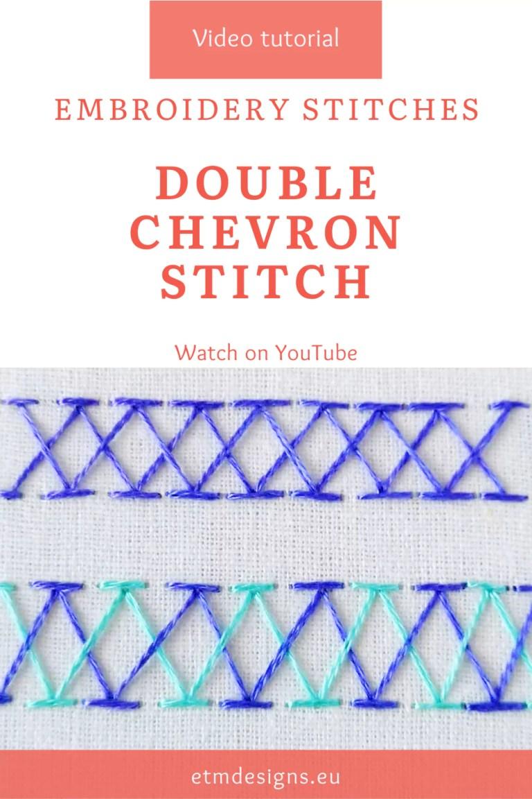 Double chevron stitch video tutorial pin
