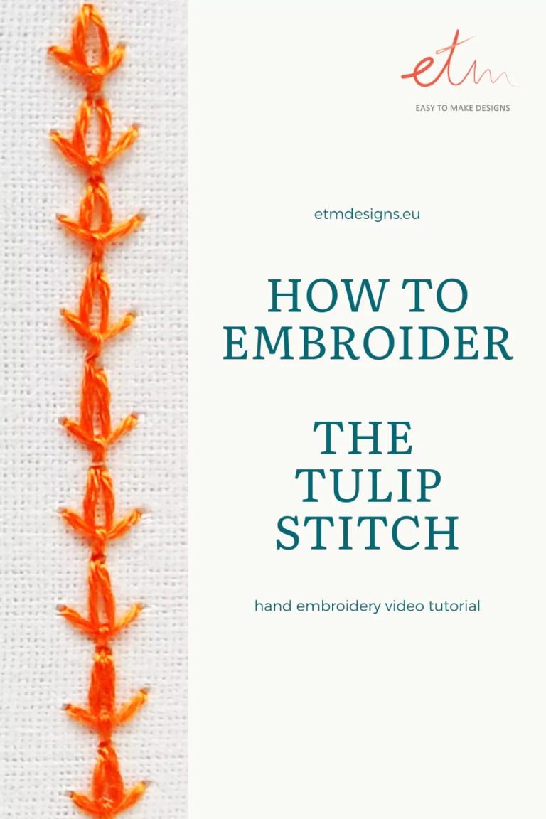 Tulip stitch video tutorial