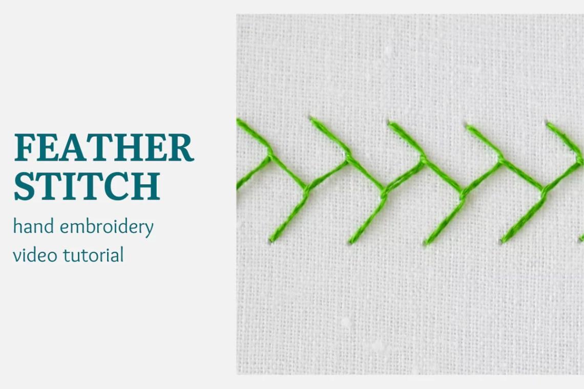 Feather stitch video tutorial
