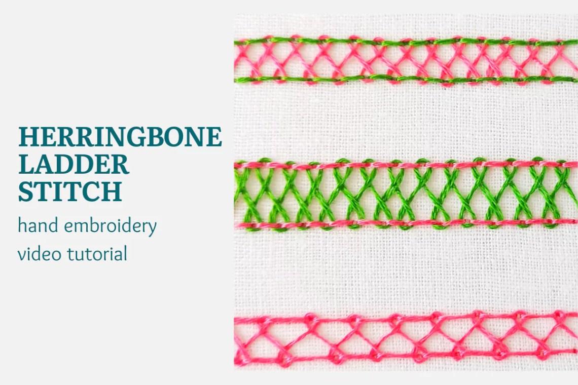 herringbone ladder stitch video tutorial